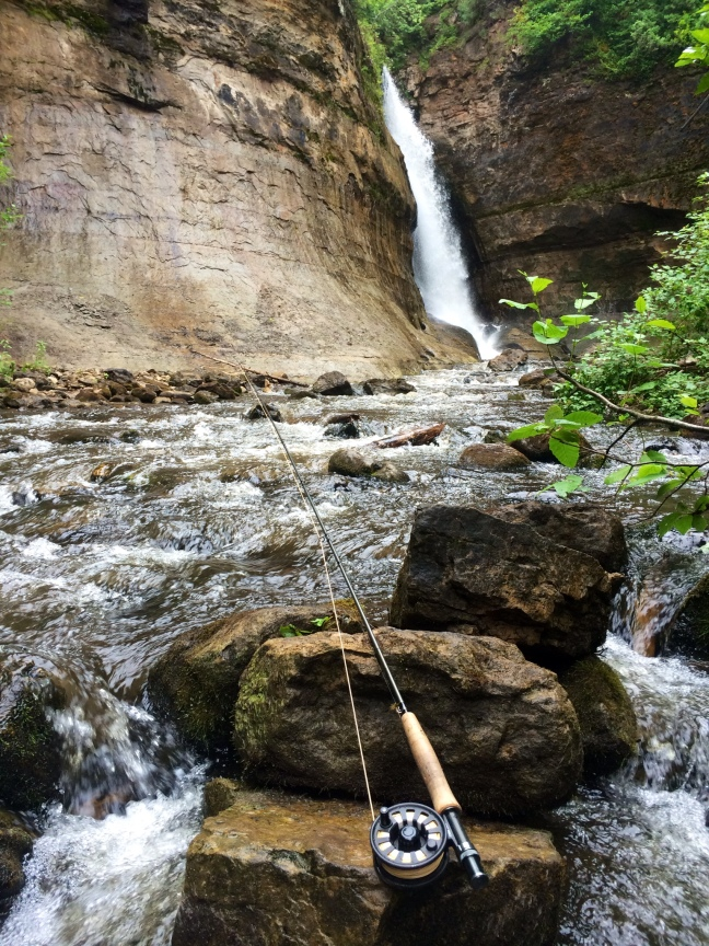 Fly Fishing at Pictured Rocks