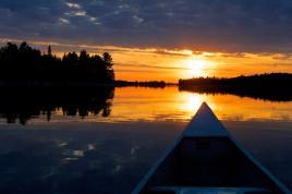 An evening canoe