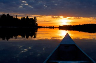 An evening canoe